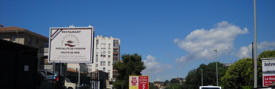 Campagne d'affichage - 4x3 - Marseille - La Valentine - RDD Affichage - août 2016